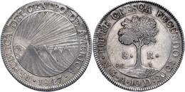 8 Reales, 1847, NG A, KM 4, Kl. Rf., Vz.  Vz - Guatemala