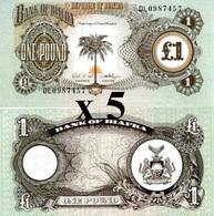 BIAFRA (NIGERIA) 1 Pound ND (1969) P 5 UNC X 5 Banknotes - Nigeria