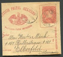 Mexico Wrapper MEPSI #WR24 Properly Used To GERMANY 1897 - Mexique