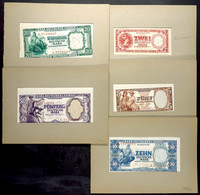 Bank Deutscher Länder, Serie Von 2 Bis 50 Mark, Insgesamt 5 Stück, Vermutlich Entwürfe Von Alfred Goldammer, Mit Bleisti - Banknotes