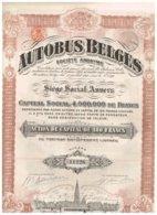 Titre Ancien - Autobus Belges - Société Anonyme -  Titre De 1923 - N° 01453 - Transports