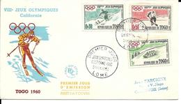 VIIIe Jeux Olympiques Californie Squaw Valley, 1960, Ski, Hockey, Bobsleigh - Invierno 1960: Squaw Valley