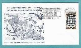 FDC France - Festival  échecs - YT 1480 - 76 Gonfreville L'Orcher - Echecs