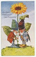 Lutins Nains Des Forêts.gnomes.plantation Du Tournesol. - Märchen, Sagen & Legenden