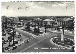 6259 - PAVIA MONUMENTO A MINERVA E VIALE LIBERTA' ANIMATA 1958 - Pavia