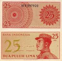 INDONESIA 25 SEN 1964, P93, UNC - Indonesien