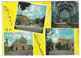 6281 - SALUTI DA TECCHIENA FROSINONE 4 VEDUTE 1970 CIRCA - Italia