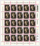 Great Britain 2020 - London 2020 - 180th Anniversary Of The Penny Black Stamp Sheet - 1952-.... (Elizabeth II)