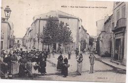 Dépt 34 - MÈZE - Rue Des Casernes Et Rue Des Artistes - Très Animée - Mèze