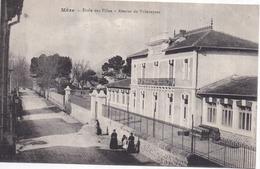 Dépt 34 - MÈZE - École Des Filles - Avenue De Villeveyrac - Animée - Mèze
