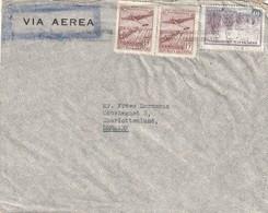 Argentina Cover Denmark - 1946 (1935) - Airmail Plane Over Iguacu Falls Sugar Cane - Argentina