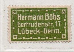 Germany. Hermann Bobs. Lubeck Label. - Vignetten (Erinnophilie)