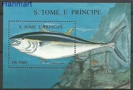 Sao Tome And Principe 1996 Mi Bl 363 MNH ( ZS6 STPbl363 ) - Pesci