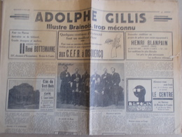 BRAINE LE COMTE   LE CENTRE 1937 - Periódicos