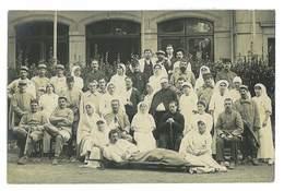 CARTE PHOTO MILITAIRE 73 AIX-LES-BAINS LE 19 OCTOBRE 1915 HOPITAL AUXILIAIRE N°10 TAMPON BLESSES GUERRE 14-18 - Aix Les Bains