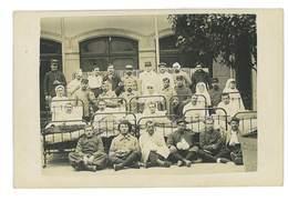 CARTE PHOTO MILITAIRE 73 AIX-LES-BAINS 1915 HOPITAL AUXILIAIRE BLESSES GUERRE 14-18 PHOTO A. PERREIN - Aix Les Bains