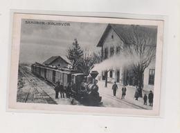 CROATIA SAMOBOR TRAIN STATION Nice Postcard - Croacia
