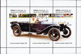 Ukraine Local  - CAR HISTORY - Lancia Lambda Torpedo 1925  - 1  Sheet - Voitures