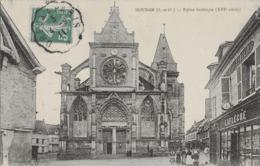 HOUDAN - EGLISE GOTHIQUE - BIEN ANIMEE - 1911 - Houdan