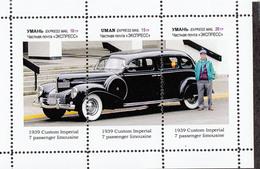 Ukraine Local  - CAR HISTORY- Custom Imperial 1939 - 1  Sheet - Voitures