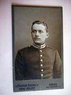 PHOTO CDV 19 EME SOLDAT ALLEMAND  Cabinet HANS MOLLER  A  MUNCHEN ALLEMAGNE - Krieg, Militär