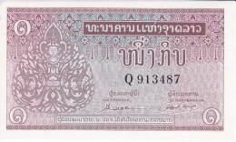 BILLETE DE LAOS DE 1 KIP DEL AÑO 1962 (BANKNOTE) SIN CIRCULAR-UNCIRCULATED - Laos