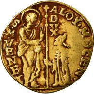 Monnaie, Italie, VENICE, Alvise Mocenigo IV, Zecchino, TTB, Or, Friedberg:1358 - Regional Coins