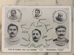Tour De France 1907 Avec Guidons Jog Réversible Bicyclette Alcyon. - Cycling