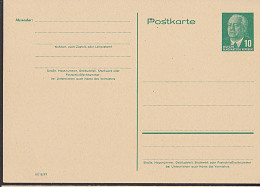 Germany East DDR P53 10 Pf Wilhelm Pieck GA-Karte Ungebraucht - Postales - Nuevos