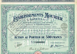 75-MOURIER. L. BARRAYA & CIE. ETS ...   1931 - Acciones & Títulos