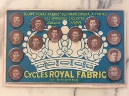 Équipe Royal Fabric Qui Participera à Toutes Les épreuves Cyclistes Saison 1926. - Cycling