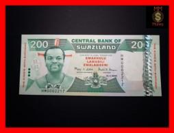 SWAZILAND 200 Emalangeni  19.4.2008 P. 35 *COMMEMORATIVE*   UNC - Swasiland