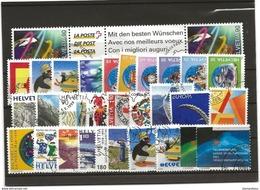 Lots Timbres Oblitérés Suisses 1999-2000 - Suisse