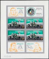 Rumänien Block 89 (mit Vier Mal 2970) Apollo 15, Ungezähnt Postfrisch ** - Romania