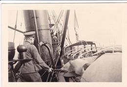 PHOTO ORIGINALE 39 / 45 WW2 WEHRMACHT 1938 LE CHASSEUR DE MINES ALLEMAND M.132 - Guerre, Militaire