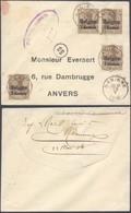 """Guerre 14-18 - OC1 X4 Sur Petite Env. Obl Simple Cercle """"Nannine"""" + Censure Namur > Anvers - Guerre 14-18"""