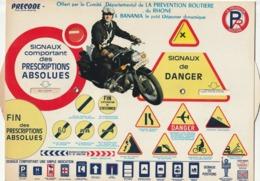 Banania Precode Offert Par La Prevention Routiere Du Rhone Et Banania - Publicités