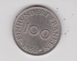 100 EINHUNDER FRANKEN 1955 LAND SAAR - [ 8] Saarland
