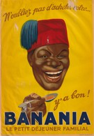 Banania Decalcomanie De Vitrine  Avec Petits Defauts - Publicités