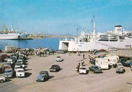 PORTO TORRES - IL PORTO CON TRAGHETTO CMTS GOSTA BERLING /LUBECK SARDAIGNE - NAVE -  AUTO CITROEN 2CV - 1973 - Sassari