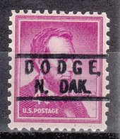 USA Precancel Vorausentwertung Preo, Locals North Dakota, Dodge 801 - United States
