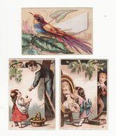 Chromo  CORSETS BONTEMS  à Besançon    Lot De 3    Enfants, Oiseaux     9.3 X 6.3 Cm - Altri