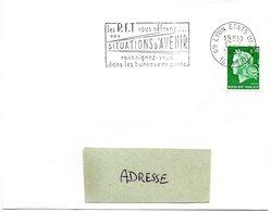 RHONE - Dépt N° 69 = LYON ETATS-UNIS (8e ARR 1969 =  FLAMME Codée = SECAP Multiple ' Les PTT Vous Offrent SITUATIONS' - Postmark Collection (Covers)