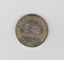 Penning-jeton-token Nationale Postcode Loterij 2012 - Nederland