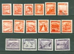 Autriche   697/711  * * , * Et  Ob    B/TB Ou Second Choix - 1945-60 Ungebraucht