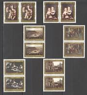 F649 1986 CUBA ART PAINTINGS PINTURAS DEL MUSEO NACIONAL 2SET MNH - Künste