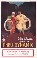 Thèmes - PUBLICITES - ILLUSTRATEUR - LARRAMEX-H - CPA - Pneu Dynamic - Automobile - Paris - Rue Piat - France