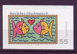 Bund 2666 SELBSTKLEBEND Aus MH 73 Herzlichen Glückwunsch 55 Cent Postfrisch - BRD