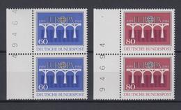 Bund 1210-1211 Paar Seitenrand Mit Bogennummer Europa CEPT 60 Pf + 80 Pf ** - BRD