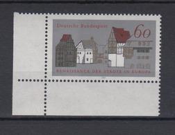 Bund 1084 Eckrand Links Unten Renaissance Der Städte In Europa 60 Pf Postfrisch - BRD
